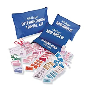 Medique 77501 International Traveler First Aid Kit with Polybags