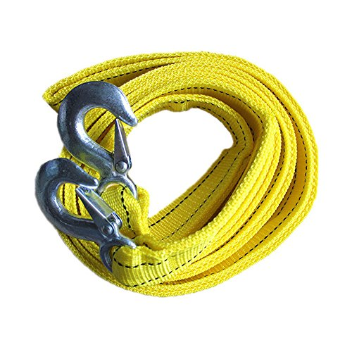 Hongshida 13 Feet X 1.6 Inch Emergency 5 Tons/11023LB Heavy Duty Tow Strap with Spring Latch Hooks (Master Tow Dolly compare prices)