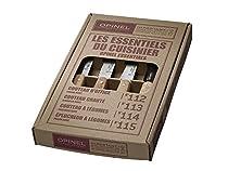"""Opinel 112 """"Les Essentiels"""" Natural Varnished Beechwood Handle Kitchen Knives"""
