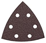 Bosch SDTR042 Detail Triangle, Hook & Loop Sanding Sheet, Red, 40 Grit, 25 Pack