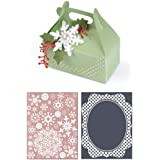 Sizzix Bigz XL with Bonus Textured Impressions Embossing Folders - Carry All Box and Let it Snow Set