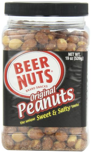 BEER NUTS Original Peanuts (Family), 19-Ounce Jars (Pack of 6)