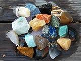 The Fundamental Rockhound Products: 1/2 lb Rough BRAZIL MIX Bulk Rock for Tumbling Metaphysical Gemstones Healing Crystals * Wholesale Lot * ... Minimum 10 DIFFERENT Stones... Rose Qtz, Green Qtz, Blue Qtz, Amazonite, Sodalite, Black Onyx, Jaspers, Agates ... GUARANTEED NO DUPLICATES