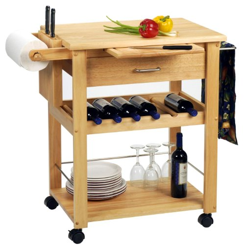 Gwendolyn Kitchen Cart Wine Rack