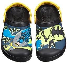 Crocs Baby Boys\' Creative Crocs Batman Glow-in-the-Dark Clog - Black - 4/5