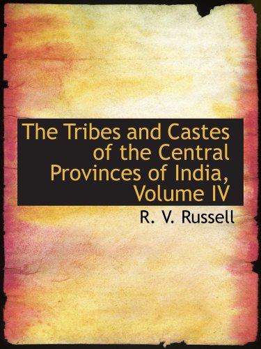 部落和种姓的印度,第四卷中部省份