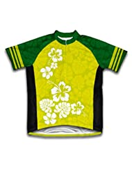 Hawaiian Greens Short Sleeve Cycling Jersey for Women