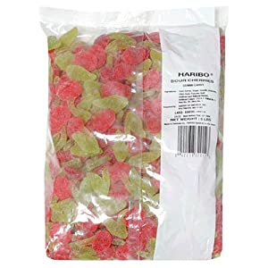 Haribo Gummi Candy, Sour Cherries, 5-Pound Bag from Haribo