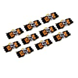 Neewer 10 Pieces Orange and Black Color Dog Cat Pet Grooming Hair Headwear Bowknot Halloween Skull Decoration Rubber Band