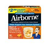 Airborne Effervescent Health Formula, Zesty Orange, 30 Count