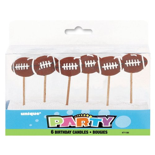 Football Birthday Candles, 6ct