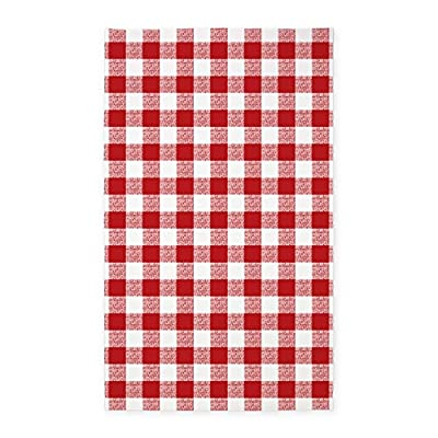 CafePress - Red Gingham Pattern - Decorative Area Rug, Fabric Throw Rug