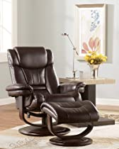 Hot Sale Chocolate Leather Loungers by Famous Brand