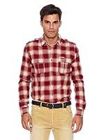 Pepe Jeans London Camisa Hombre Savant (Granate)