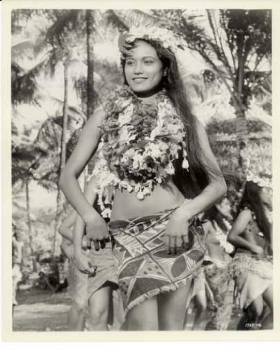"""Mutiny On The Bounty"" Movie Still Pin-Up Photo (Tarita)"