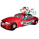 RARE 10 ft Happy Hollywood Limo Inflatable Holiday Outdoor Airblown Mr & Mrs Santa Claus