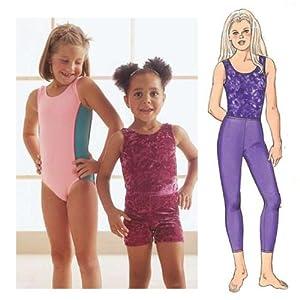 Butterick Pattern Children's and Girls' Leotard, Skirt, Bag and