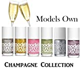 Models Own - Champagne Collection 2013 Set of 6 Nail Polish - Set Includes: 1x Champagne, 1x Gold Rush, 1x Lili's Pink, 1x Mystic Mauve, 1x Green Flash and 1x Sterling Silver (14ml each).