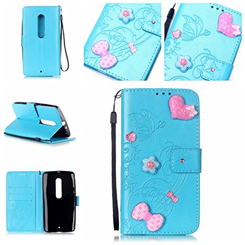 Cozy-Hut-HandyhlleLederhlle-Ledertasche-Hlle-Case-Cover-Etui-Tasche-fr-Motorola-Moto-X-Play-Hlle-Mit-Diamant-Schmetterling-Muster-Schutzhlle-Handyhlle-Taschen-Schalen-Handy-Tasche-Flip-Wallet-Stil-cas