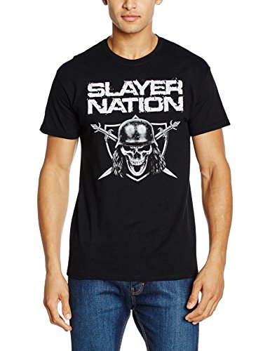 Rockoff Trade Slayer Nation-T-shirt  Uomo    nero Large