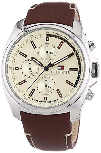 Tommy Hilfiger Watches Herren-Armbanduhr XL PRESTON Analog Quarz Leder 1791079 thumbnail