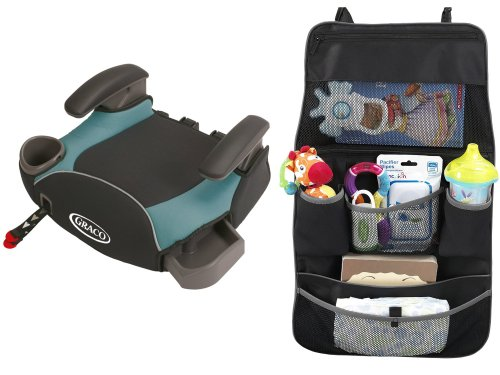 Graco Affix Backless Booster Seat With Latch System & Backseat Organizer, Sailor front-903142