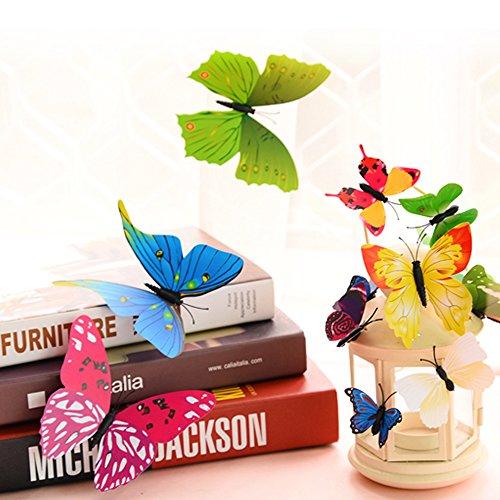 goodlucky365 72 stickers muraux de papillons 3d sticker mural autocollants bricolage d coration. Black Bedroom Furniture Sets. Home Design Ideas