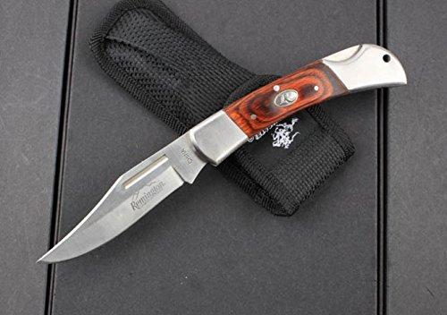 Wood Brass Rivet Trim Hunter Skinner Knife Pocket Knife Camping Hunting Bk110-8.46''