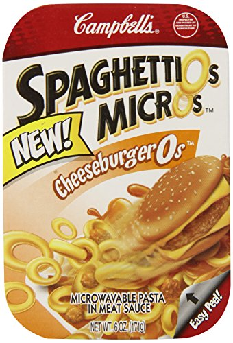 Spaghettio'S Microwave Pasta, Cheeseburger, 6 Ounce (Pack Of 6)