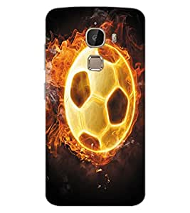 ColourCraft Flaming Football Design Back Case Cover for LeEco Le 2