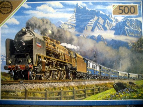 Picture of Falcon England The Orient Express Train 500 Pc. Jigsaw Puzzle By Falcon (B005C20WGS) (Floor Puzzles)