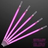 Pink Glow Stick Drinking Straws (Set of 25)