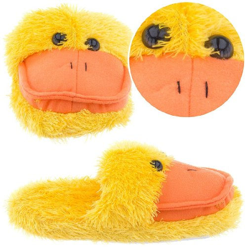 Cheap Fuzzy Yellow Duck Animal Slippers for Women (B00869EOZO)