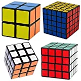 Amartshows Black Cube Puzzle Bundle Pack,2x2x2,3x3x3,4x4x4,5x5x5 Set, Speed Cube Collection toies for children