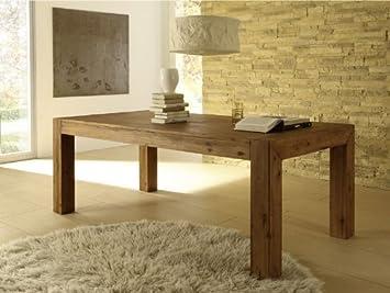 Esstisch Designer Tisch Massiv Ausziehbar 200 260x100 Cm Akazie