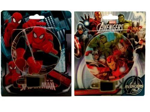 Marvel Spiderman & Marvel Heroes Night Lights set of 2 - 1
