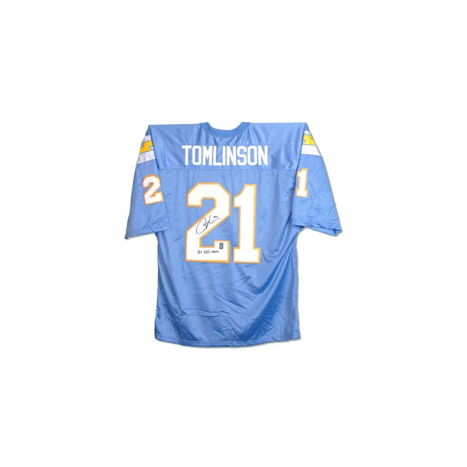 LaDainian Tomlinson San Diego Chargers Autographed Custom Jersey with 31 TDs 2006 Inscription