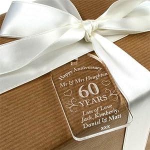 Wedding Gift Ideas Amazon : ... Gift Tag, 60th Anniversary Tag, 60th Anniversary Gift: Amazon.co.uk