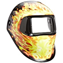 3M Speedglas Blazed Welding Helmet 100, Welding Safety 07-0012-00BZ, without Headband and 3M Speedglas Auto-Darkening Filter