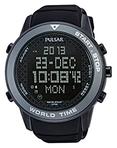 Amazon.com: Pulsar PQ2035 48mm Ion Plated Stainless Steel Case Black