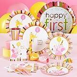 Sweet Safari Pink 1st Birthday Standard Kit for 16