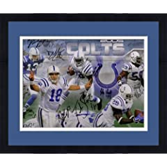 Framed Team Signed Indianapolis Colts 36x12 Photo - 25 Sigs Clark, Wayne SM Holo -... by Sports Memorabilia