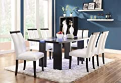 Coaster Home Furnishings 104561 Contemporary Dining Table, Black
