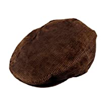 Jaxon Corduroy Ivy Cap (Medium, Brown)