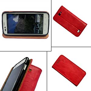 i-KitPit - PU Leather Flip Case Cover HTC Explorer A310 (RED)