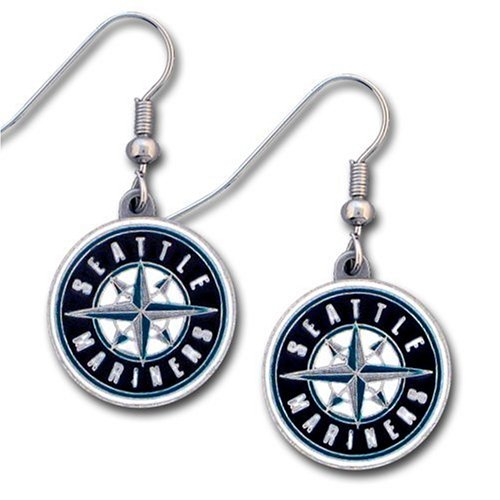 MLB Seattle Mariners Dangle Earrings at Amazon.com