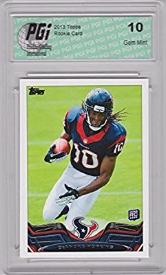 2013 Topps Football #155 DeAndre Hopkins RC Texans Rookie Card PGI 10
