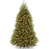 National Tree Dunhill Fir Hinged Tree with 750 Clear Lights, 7-1/2-Feet