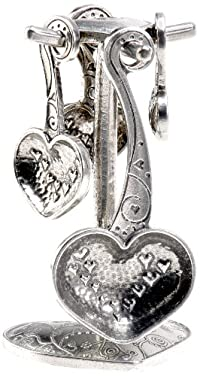 Crosby & Taylor Heart to Heart Pewter Measuring Spoon Set on Pewter Display Post