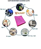 KARP MICROFIBER MULTI PURPOSE TOWEL,CAR CARE AND DRY WET CLEANING CLOTH (40cm x40cm) Pink
